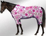 EQUINE ACTIVE  SUIT PRINTED CIRCLES WHITE- PINK