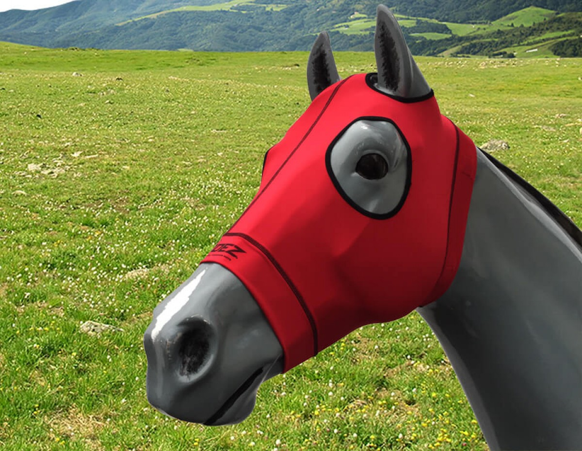 EQUINE COMPRESSION HOOD RED