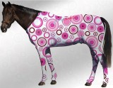 EQUINE SUIT PRINTED CIRCLES WHITE- PINK
