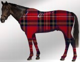 EQUINE SUIT PRINTED TARTAN RED