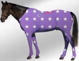 EQUINE SUIT PRINTED STAR PURPLE- WHITE