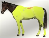 EQUINE SUIT PRINTED FLURO YELLOW